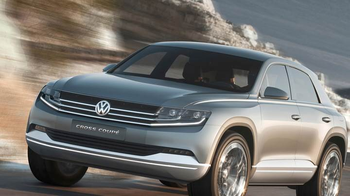 Running Fast Volkswagen Cross Coupe Concept In Grey